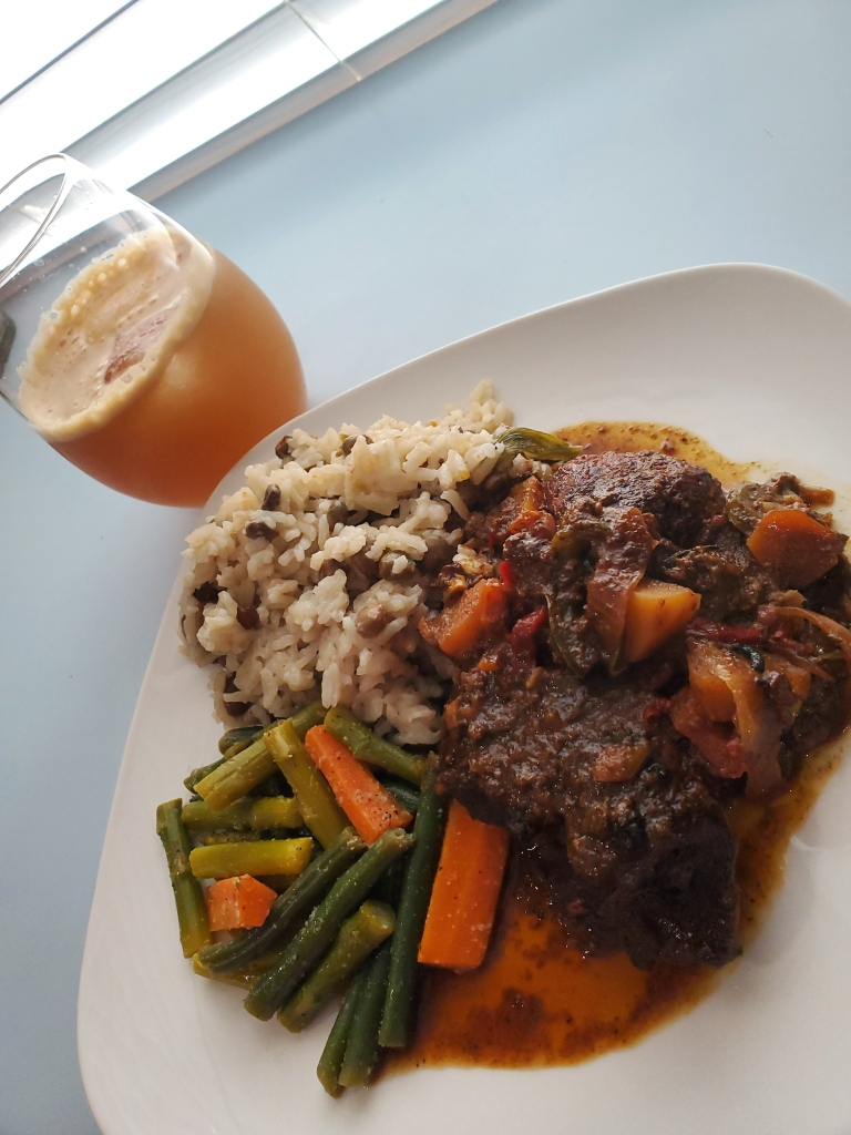 how to cook jamaican rice and peas with stewed chicken and